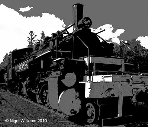 Greetings card locomotive